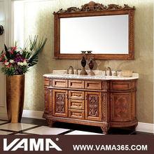 VAMA V-19720 floor wooden hand carved antique bathroom vanity