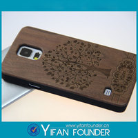 Customized wood hard cover cell phone for samsung galaxy S5 cases