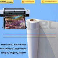 Best Choice! 260gsm Waterproof Wide Format RC Glossy Photo Print Paper
