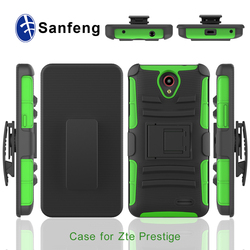 3 in 1 Rubber+Plastic Cell Phone Case for Zte Prestige N9132 Hot Selling In USA Market