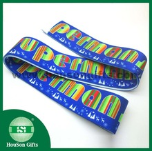 Dongguan factory sublimation polyester spandex strap printed stretch satin elastic