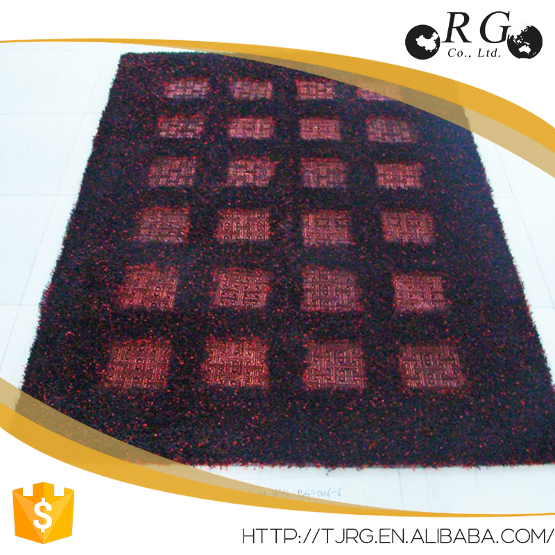 Washable rugs with rubber backing