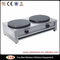 Stainless Steel Industrial Gas Crepe Maker / Crepe Maker and Hot Plate