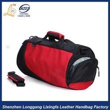 removable shoulder belt travel bag with shoe compartment