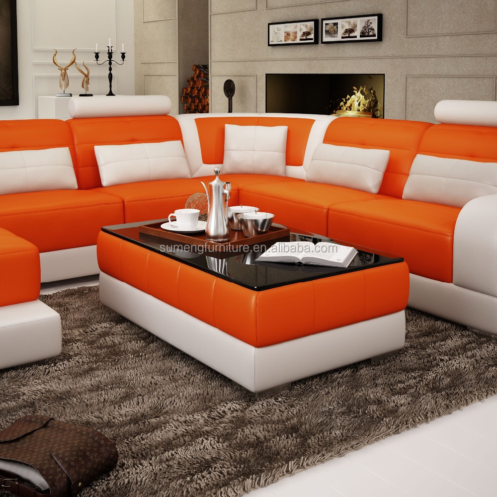 on sale modern leather sofa set for living room
