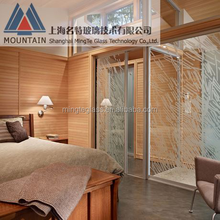 glass door material and exterior position aluminum glass folding door