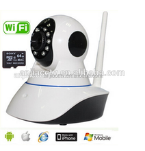Wireless IP Pan/Tilt/ Night Vision Internet Surveillance Camera Built-in Microphone With Phone remote monitoring support(White)