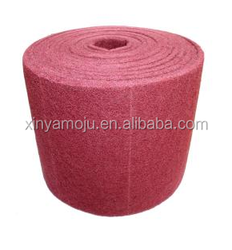 Non-Woven Abrasive Roll red