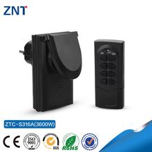 433.92Mhz/315Mhz,1000w,230v CE/FCC Mobile phone Remote Control Smart Socket Electrical Plug Socket For EU/AU/UK