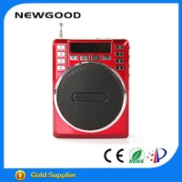 NEWGOOD hot selling portable tour guide mini usb flash drives with earphone volume control for teacher