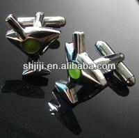 Silver Charming Wine Glass Cufflinks
