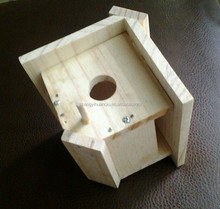 solid wood material polished wooden bird house