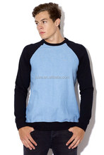 OEM service Men's Raglan Long sleeve Matching t shirt Made In China
