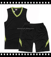 blank basketball suit for kids/custom boys basketball suit/kids training suits