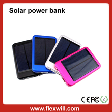 Solar Power bank with Alumium case 6000mAh solar charger