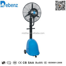 26 inch mobile spray misting fan, humidifier fan with water