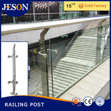 outdoor metal post and handrail for steps