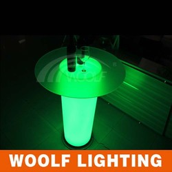 remote control color changing led glass top pillars