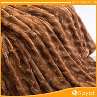 Fashion Outdoor Top level animal print faux fur fabric