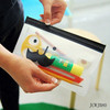 Custom Moustache Translucent PVC Pencil Case Bags Children School
