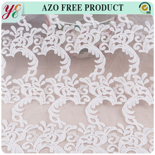 Nice design nigeria style embroidered silk organza lace fabric