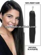 Cheap 100 strands of #1b Micro braid /Micro Loop Ring Hair Extension
