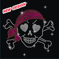 Beautiful hotfix skull motif butterfly for clothing S 1 (118)