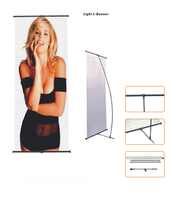 Light flexible L-banner stand