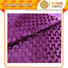 100%polyester brushed embossed velvet old fashioned fabric