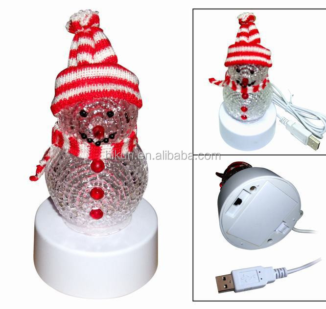 2015 Best Selling Christmas Decorations Light Usb Snowman