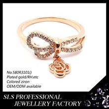 New Year creazy sale design unique jewelry ring rose gold plated silver ring jewelry for weman