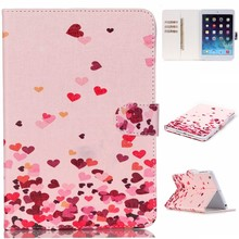 Hot Flower Printed Colorful Wallet Flip Leather Case Cover For Apple iPad Mini 2
