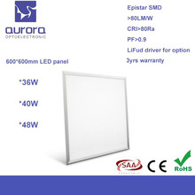 edge-lit Ultra slim recessed high lux led 600x600 ceiling panel light