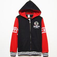New design mixed color zipper hoodie thin hoodies