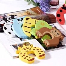 Baby Safety EVA Sliding Door Stopper Lock Funny Animal Shapes Door Finger Guard
