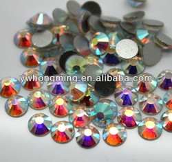 Wholesale 2014 Crystal Rhinestone!!Flatback Crystal Rhinestone Non Hotfix Crystal AB!!