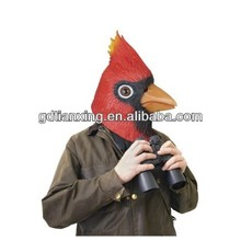 New Style Latex Halloween Red Head Bird Mask Animal Face Head Party Mask