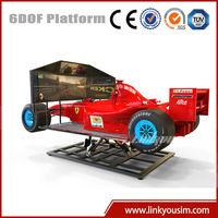 Linkyou motion game machine f1 simulator, 6dof motion platform electric car racing simulator
