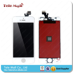 Best quality for iphone accessories for iphone 5 lcd/digitizer complete white