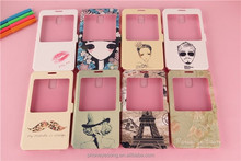 IMD customized pattern PU leather Case for samsung galaxy note 3