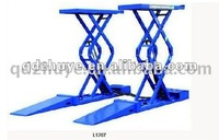 In-ground hydraulic scissor car lifter