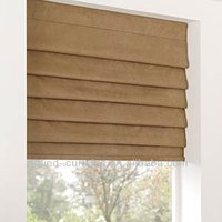 morden design double layer cord lock roman blinds for hotel