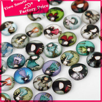 Low cost beautiful alphabet charms wholesale engravable round shaped acrylic charms