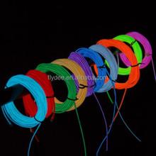 High Brightness diameter 1.2mm 2.3mm 3.2mm 4.3mm 5mm rgb el wire,remote control el wire with sideline