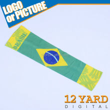100% polyester Brazil national sport arm sleeve, promotion arm sleeve gift