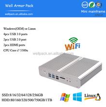 Trade Assurance WAP Intel HD Graphics 5500 aluminum alloy Mini computer
