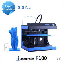 ideaPrinter F100 high resolution 0.02 mm big size 3d printer recharge card printing machine