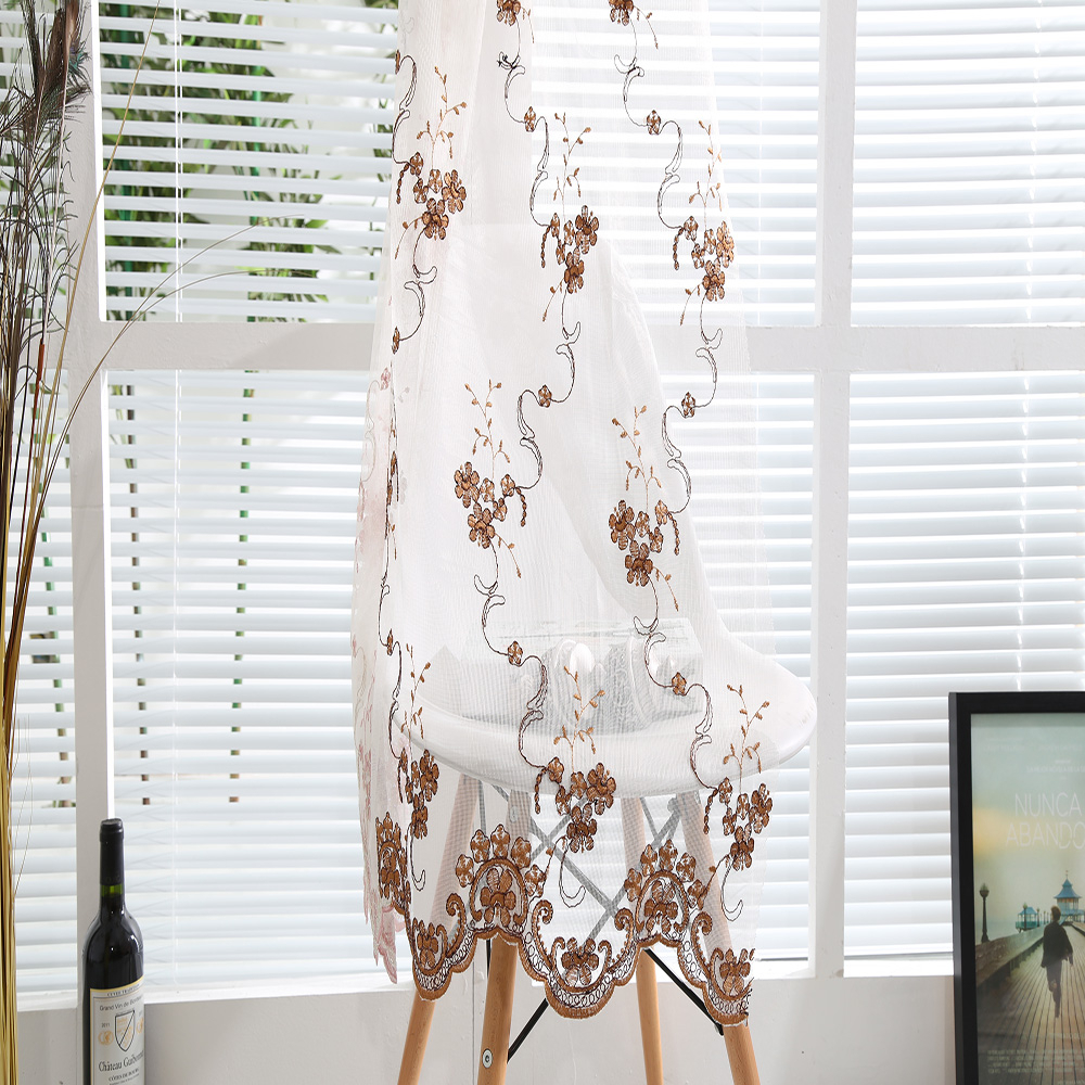 unique Arabian curtain design gloden floral embroidered curtains ...