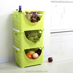 Hot sale Plastic storage box, storage container,kitchen Fruits and vegetables storage rack