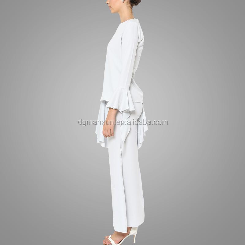 Newest white muslim women baju kurung wholesale islamic plus size women clothing3.jpg